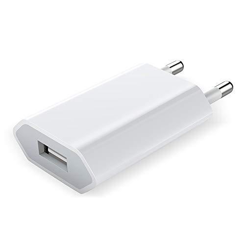 Luvfun Chargeur Secteur, [Lot de 1] Adaptateur USB Universel Mural Universel Secteur Mural (Blanc)