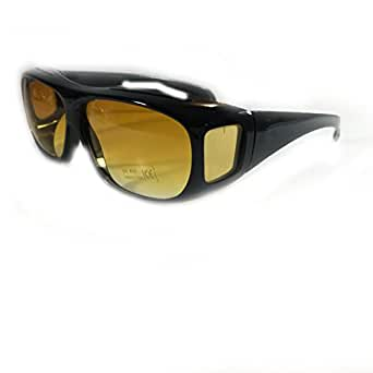 FDC Ali G Sunglasses With Yellow Uv400 Lenses And Black Frame