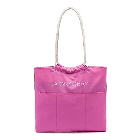 La Gracery Damen Tragetasche Handtasche SchulterTasche Shopper große (Rose)