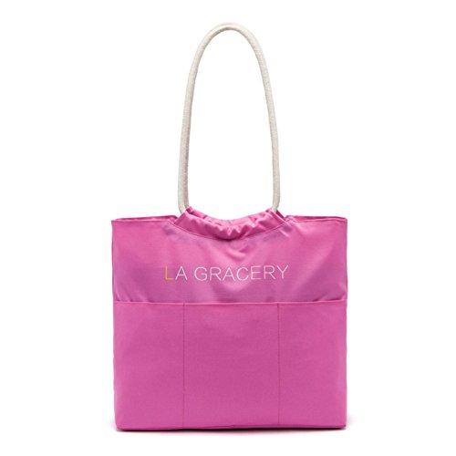 la-gracery-borsa-tote-donna-rosa