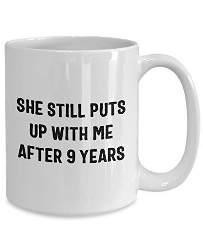 Betsy34Sophia 9. Jahrestags-Geschenke f¨¹r M?nner 9. Jahrestags-Geschenk f¨¹r ihn 9. Jahrestag 9-j?hriger Jahrestag 9. Hochzeitstag-Kaffeetasse