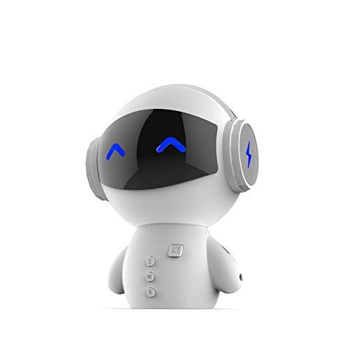 Garyesh Roboter Kabellos Bluetooth Tragbarer Lautsprecher für iPhone 7 6 Plus Samsung Handys Tablet PC (Weiß)