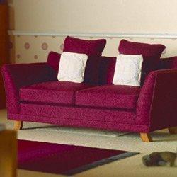 Preisvergleich Produktbild Dolls House Sofa lila Stoff/Holz 1:12 für Puppenhaus 3633