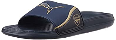 Puma Men's AFC Team Cat Sandal Black Iris and Gold Rubber Hawaii Thong Sandals - 8 UK/India (42 EU)