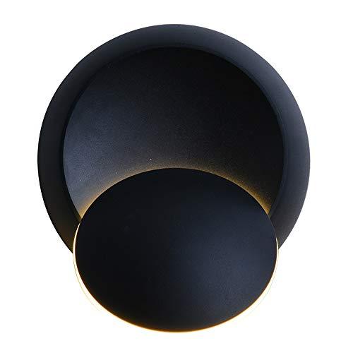XIAYUU Innenwandleuchte Eisen Moderne Kreativität Wandleuchte, Led Wohnzimmer Schlafzimmer Nachttischlampe über einfache Treppe Balkon Lampe Verstellbare Wandleuchte 360   ° Rotation (Color : Black) -