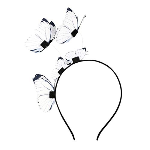 TOPKEAL Vintage Stirnbänder Hut mit Feder Blume