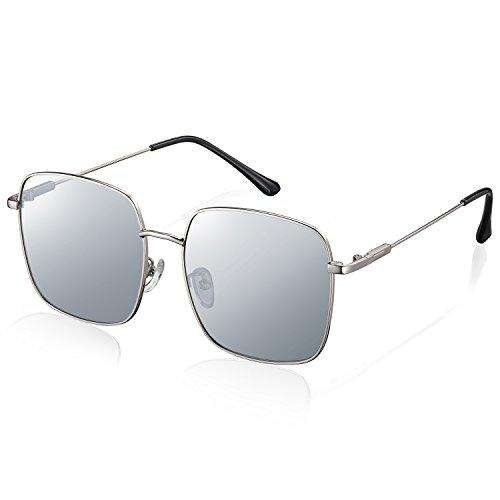 Polarisierte Sonnenbrille Pilotenbrille Sonnenbrille Damen Herren Retro Mode Vintage Fashion Brille, UV400 Schutz Ultraleicht Rahmen, Ideal für Bekleidungszubehör, Mach ein Foto, Strand, Fahren