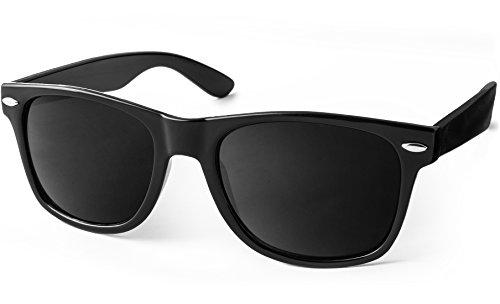 UVprotect® Sonnenbrille Wayfarer Design UV400 W02Schwarz