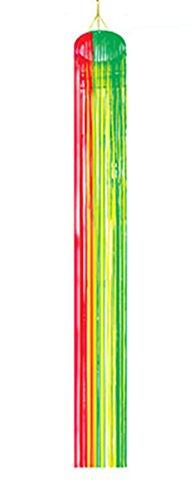 chamboolee - Party Dekoration- Metallic Vorhang gestreifte Hängedeko, 30x240cm, 1 Stück, (Kostüm Gestreifte Rote Und Halloween Weiße)