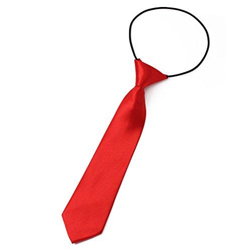 Pinzhi Schule junge Kinder feste Hochzeit elastische Krawatte Krawatte solide Farbe Partei einheitliches Netz -