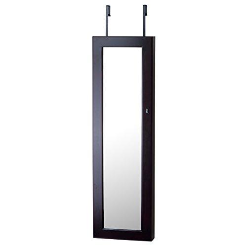 Innerspace-Prodotti Deluxe da porta/parete a specchio gioielli Armoire, legno, Espresso