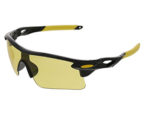 Vast UV Protected Sport Unisex Sunglasses (SPORTY_HALF_JACKET_9181C1_yellow|60|yellow)
