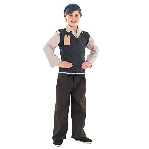 Fun Shack FNK3454L Kostüm, Boys, Evacuee School Boy, Large