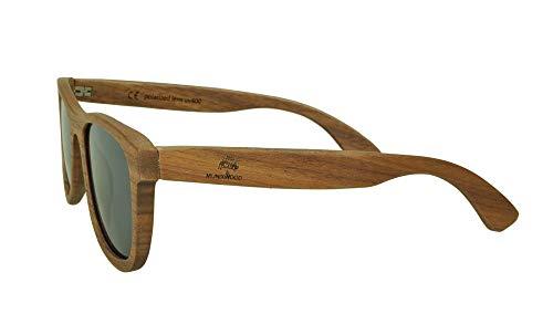 Munixwood Holz Sonnenbrille Walnussholz braun mit Holzbox handgefertigt