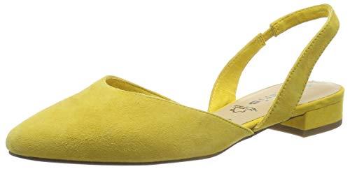 Tamaris Damen 1-1-29401-22 Slingback Pumps, Gelb (Sun 602), 39 EU Damen Slingback Schuh