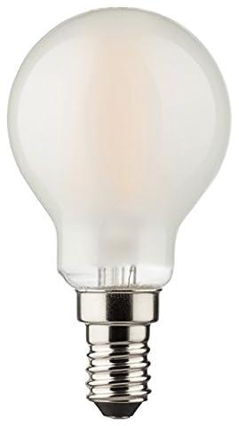 MÜLLER-LICHT 400199 A++, Retro-LED Lampe Miniglobe ersetzt 40 W, Glas, 4.0 watts, E14, weiß, 4.5 x 4.5 x 7.7 cm