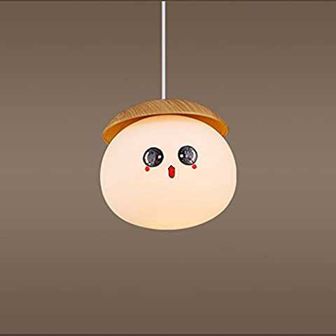wysm Modern Simple Nordic Bar Lampe de table Lampe seule tête de lampe Verre Nuts Restaurant Lustre Lustre de chambre à coucher Lustre