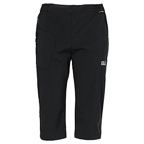 Jack Wolfskin Damen Hose Accelerate 3/4 Pants Women, Black, 36 - Bi-stretch-gerades Bein Hose
