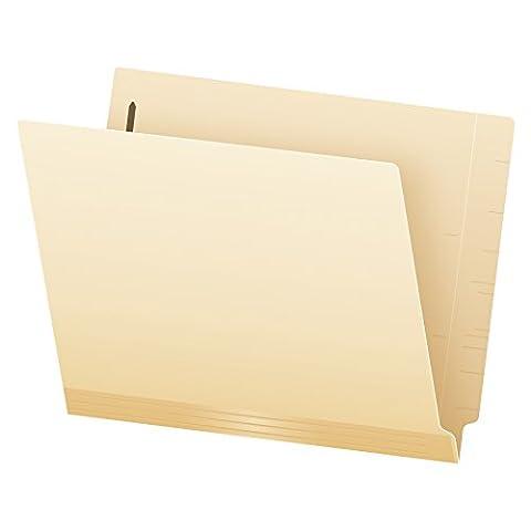 Pendaflex Laminated Spine End Tab Fastener Folder, Position #1, Letter, Manila, 50/Box