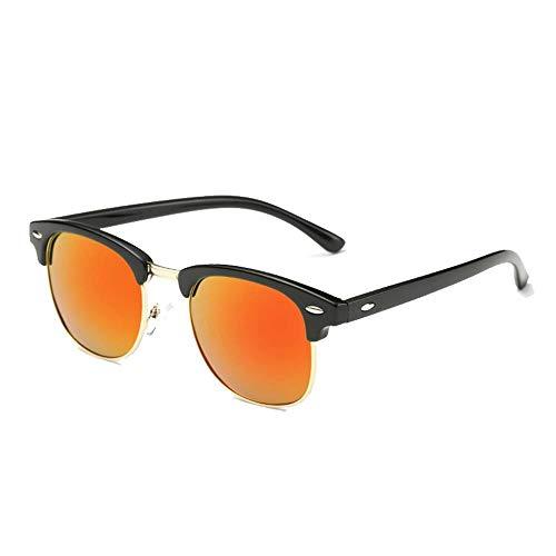 ZHOUYF Sonnenbrille Fahrerbrille Fashion Semi Frameless Polarized Sonnenbrillen Herren Und Damen Sonnenbrillen Mit Halbem Rahmen Classic, M