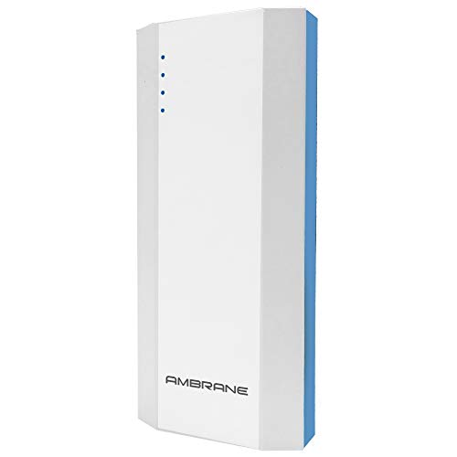 Ambrane P-1111 10000mAH Power Bank (White-Blue)