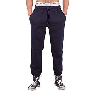 Love My Fashions Men Bottoms Joggers Lounge Pants Tracksuit Jog Bottom Fleece Zip Pockets S-XXL (Medium, Navy)