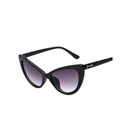WJMLHLKK Elegante Cat Eye Sonnenbrille Floral Oval Sonnenbrille Chic Lady Eyewear Sonnenbrille Frauen Uv400