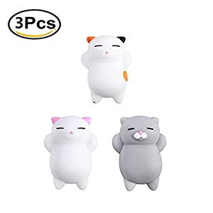 3Pcs Mini Kawaii suave Cat