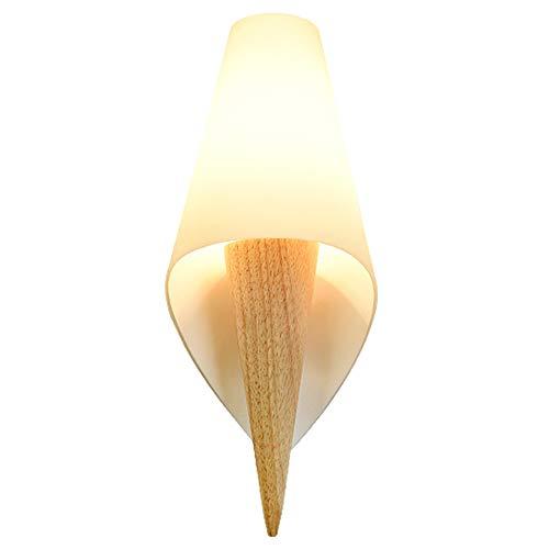 Im japanischen Stil LED-Wandleuchte Holz Imitation Pergament Wandleuchte Schlafzimmer Nacht Wohnzimmer Gang Korridor kleine Deckenleuchte ( design : C ) - 111 Nacht Staub