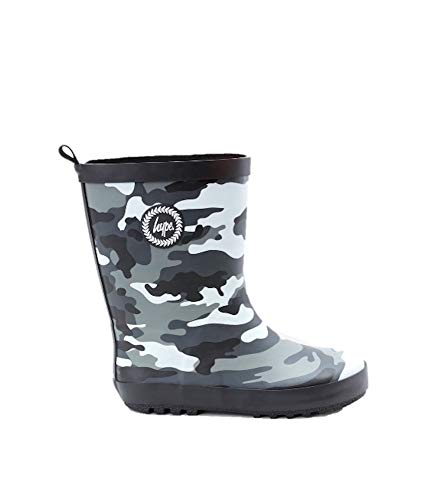 Hype Boys Junior Camo Wellies Black/Grey/White