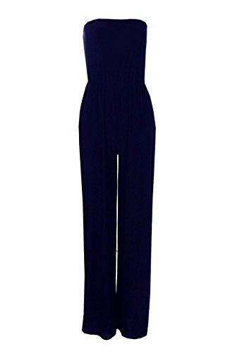 Marine Femmes Beth Combinaison Jambes Larges Sans Bretelles Marine