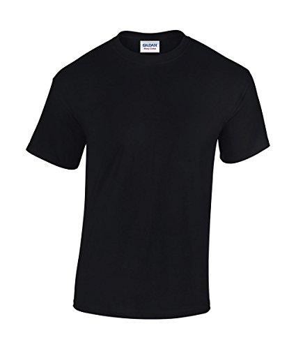 5 Stück GILDAN Heavy Cotton T-Shirt Herren Shirt S - 3XL Schwarz Weiß (XL, Schwarz) (T-shirt 100% Cotton Heavy)