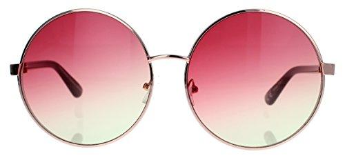 onnenbrille 60er 70er Jahre Hippie Style rund oversized Lennon LX40 (Rosa Ombre) (70er Jahre 80er Jahre Outfits)