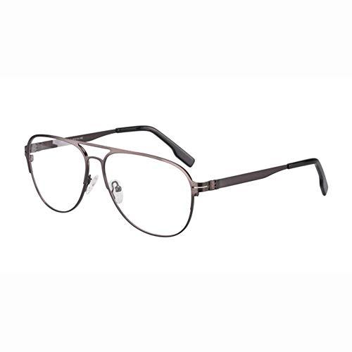 Eyetary Bifokale Lesebrille mit photochromem Übergang von Transition - Strahlenschutz / UV400 Anti Glare Outdoor Aviator Sonnenbrille Leser/Vergrößerung +1.00 bis +3.00 Stärke,GunGrayFrame,+1.00