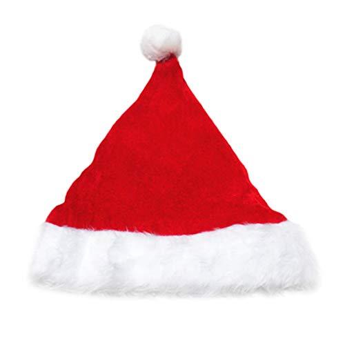 Qiman Weihnachten Hut Erwachsene Kinder Pleuche Samt Weihnachten Weihnachtsmann Mütze Mit Plüsch Trim Verdicken Comfort Liner Klassische Party Weihnachten Kostüm Topper Mützen Cap (Topper Hut Baum)