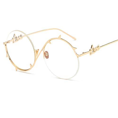 CHENGZI Runde SonnenbrilleFrauenMänner MetallDornen Rahmen Sonnenbrille Für Frauen