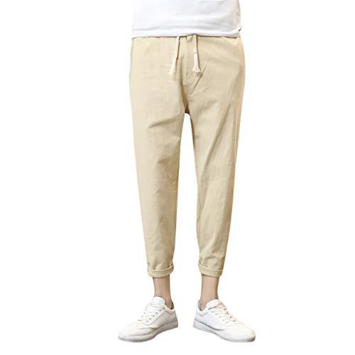 Mymyguoe Herren Chino Hose Herren Slim fit Chinohose Stretch Designer Hose Herren Hose Slim Fit Hochwertige Jeanshosen für Männer Essential Chino Solid Hose Kleine Füße Hose[Cachi,XXXXL] -