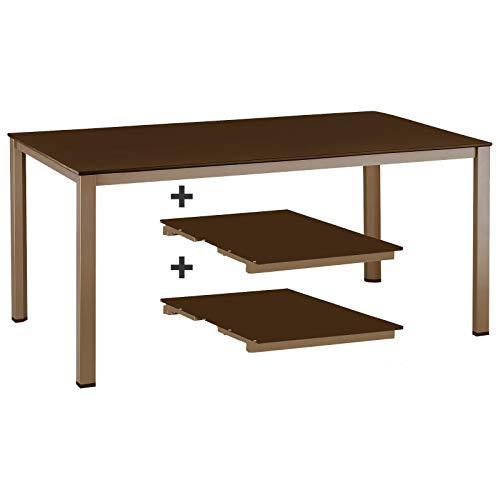 Kettler Ausziehtisch 159 / 219 / 279 cm in bronze mocca Gartentisch ohne Stuhl