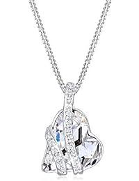Elli Halskette Damen Herz mit Swarovski® Kristallen in 925 Sterling Silber