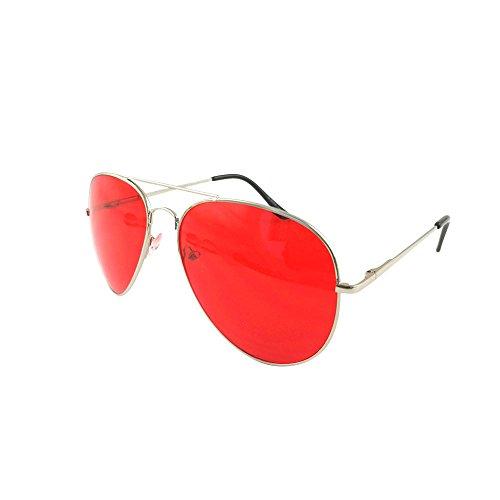ASVP Shop Sunglasses Men's Ladies Fashion 80s Retro Style Designer Shades UV400 Lens Unisex (Red)