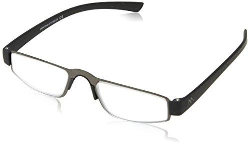 Sunoptic MR99B +3.00 Montana Eyewear Lesebrille in matt gunmetal+ schwarz - Stärke +3.00 Inklusive soft Etui, 1er Pack (1 x 1 Stück)