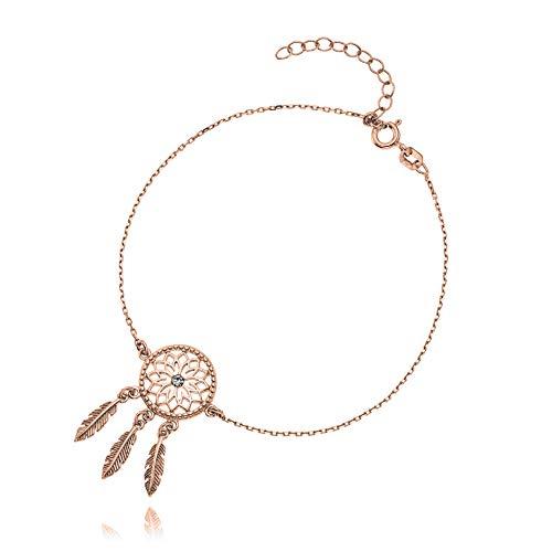 Lillymarie - bracciale da donna in argento sterling 925 con ciondolo a forma di acchiappasogni con cristalli swarovski elements, lunghezza regolabile, regalo di compleanno per donne