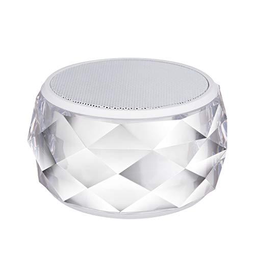Altsommer HIFI Portable Wireless Bluetooth Stereo Sound, Wireless Bluetooth Lautsprecher V4.0 SD Karte Bunte LED Licht Lautsprecher 12 Watt mit Touch Sensible - 2 Regal-audio-stand
