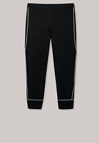 Schiesser - Damen Hose 3/4-lang Thermowäsche für Extreme Kälte Schwarz - Sport Thermo Plus (135309), Größe:38, Dessin:Schwarz (000) (Extreme Unterwäsche Kälte)
