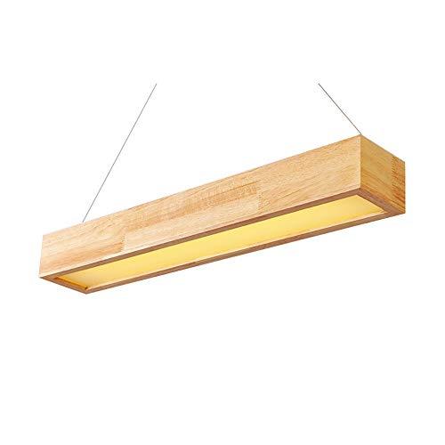 AmzGxp Moderne minimalistische kreative LED rechteckige gelbe Lichtquelle Eiche + Eisen Schlafzimmer Wohnzimmer Esszimmer Studie Kronleuchter/Deckenleuchte/Lampe kreativ -