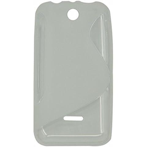 S Line TPU flexible de protección Carcasa Funda para Nokia 225 Transparente