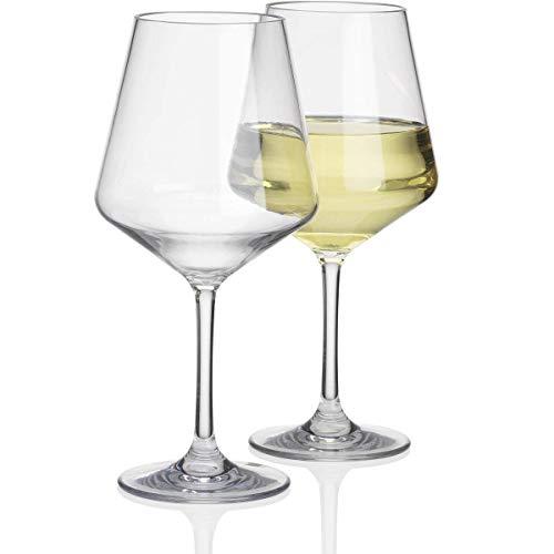 2 Stück Savoy Polycarbonat 450ml Standart Weinglas in Echtglasoptik bruchfest - 2X Camping Glöser Wasser Glas Kunststoff