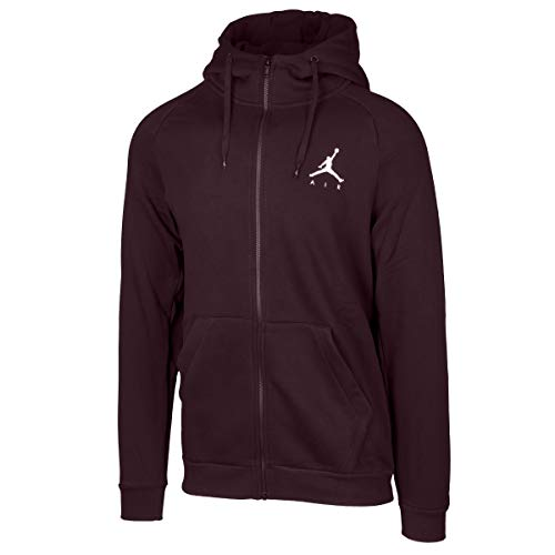 Nike Kids Fleece (Nike Sportswear Männlich Jordan Jumpman Fleece Full-Zip Sweatjacke, XL, Burgundy Crush-white (939998-652))