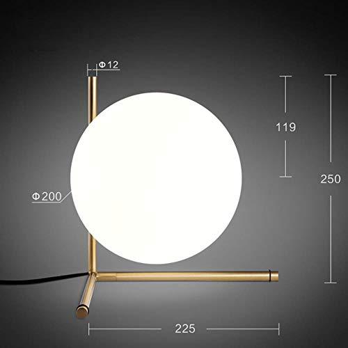 Danesa nórdica moderna Redonda Bola de cristal de la lámpara para el dormitorio Cafe Restaurante Bar accesorios de iluminación de interior de la decoración, lámpara de la tabla 2, Dia200mm