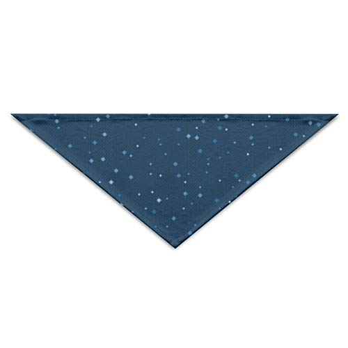 Wfispiy Lovely The Starry Sky PrintingDog Birthday Pet Bandana Collars for Dogs and Cats -